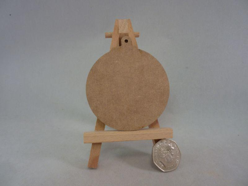 2 mm MDF Baubles - 8cm with hanging hole