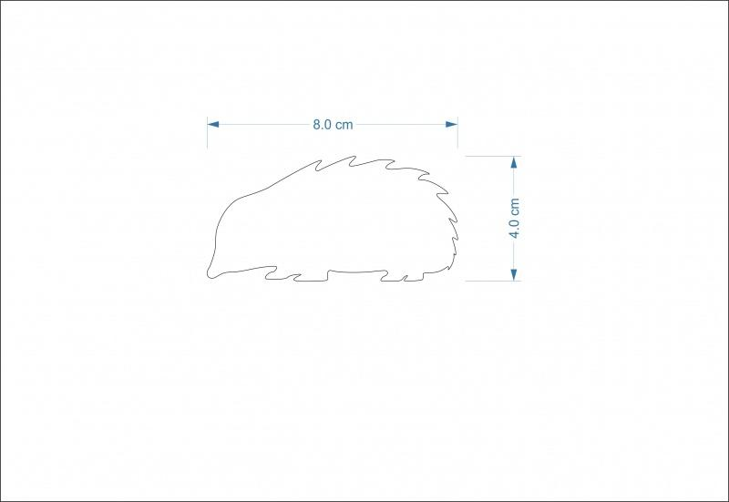 8 cm Hedgehog Shape
