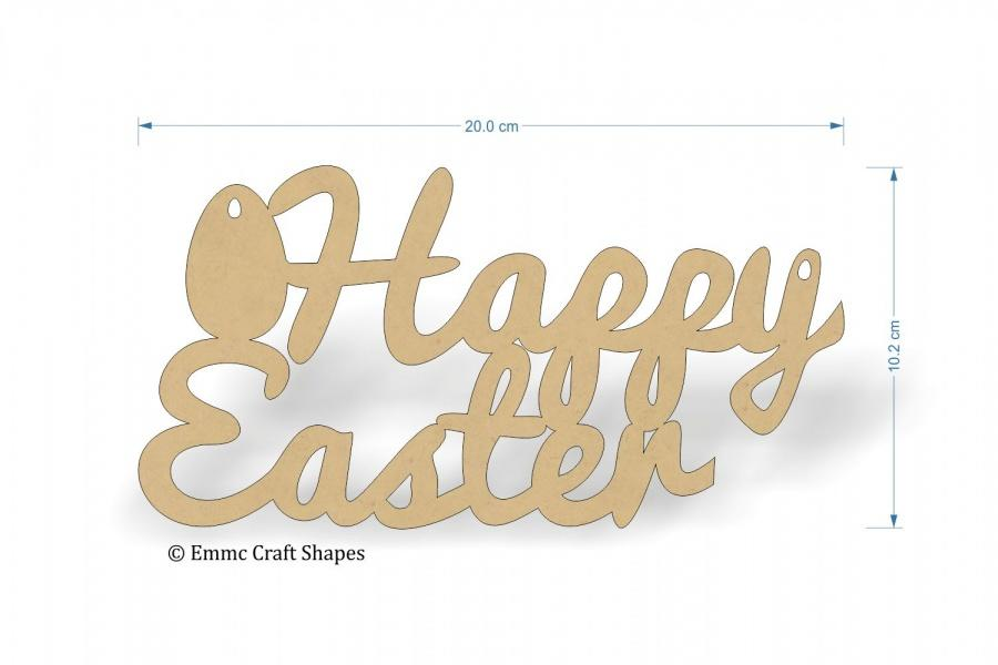 Happy Easter Text - 20 cm