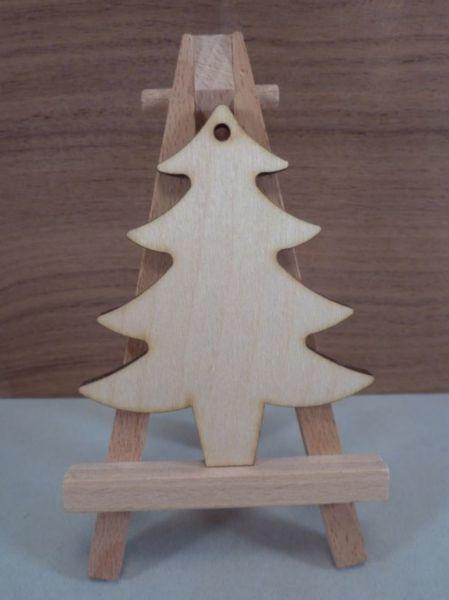 Plywood Christmas Trees - 8 cm with hanging hole