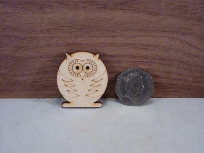 Plywood Owl Shape - 4 cm