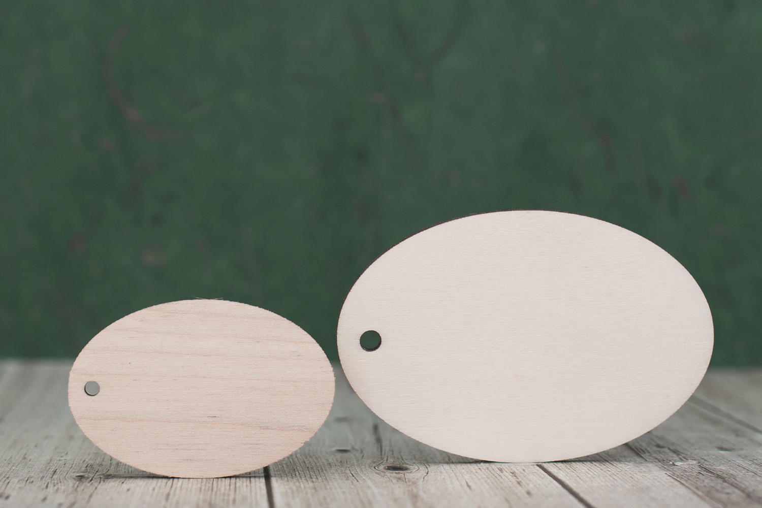 4mm Birch plywood laser cut oval key fob blank