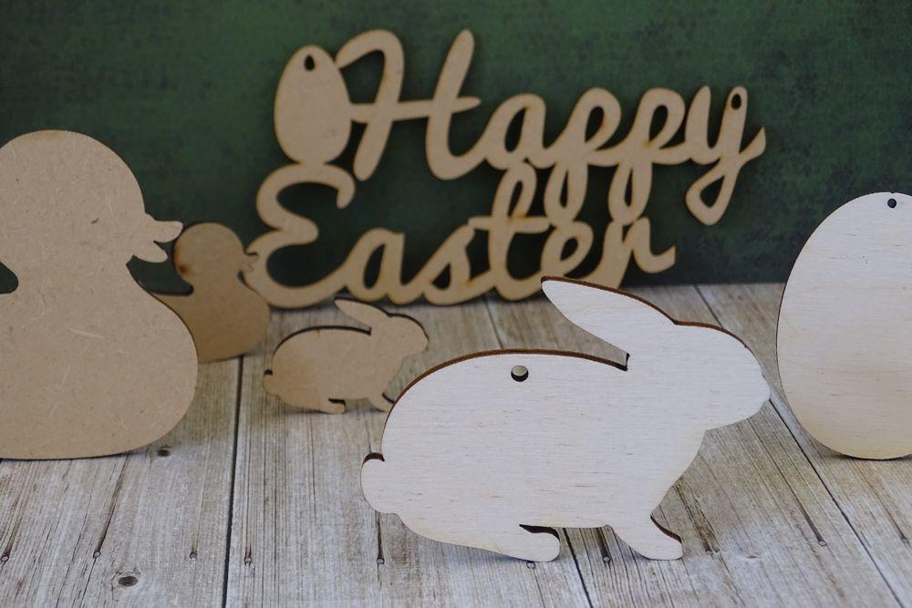 Easter wooden shapes