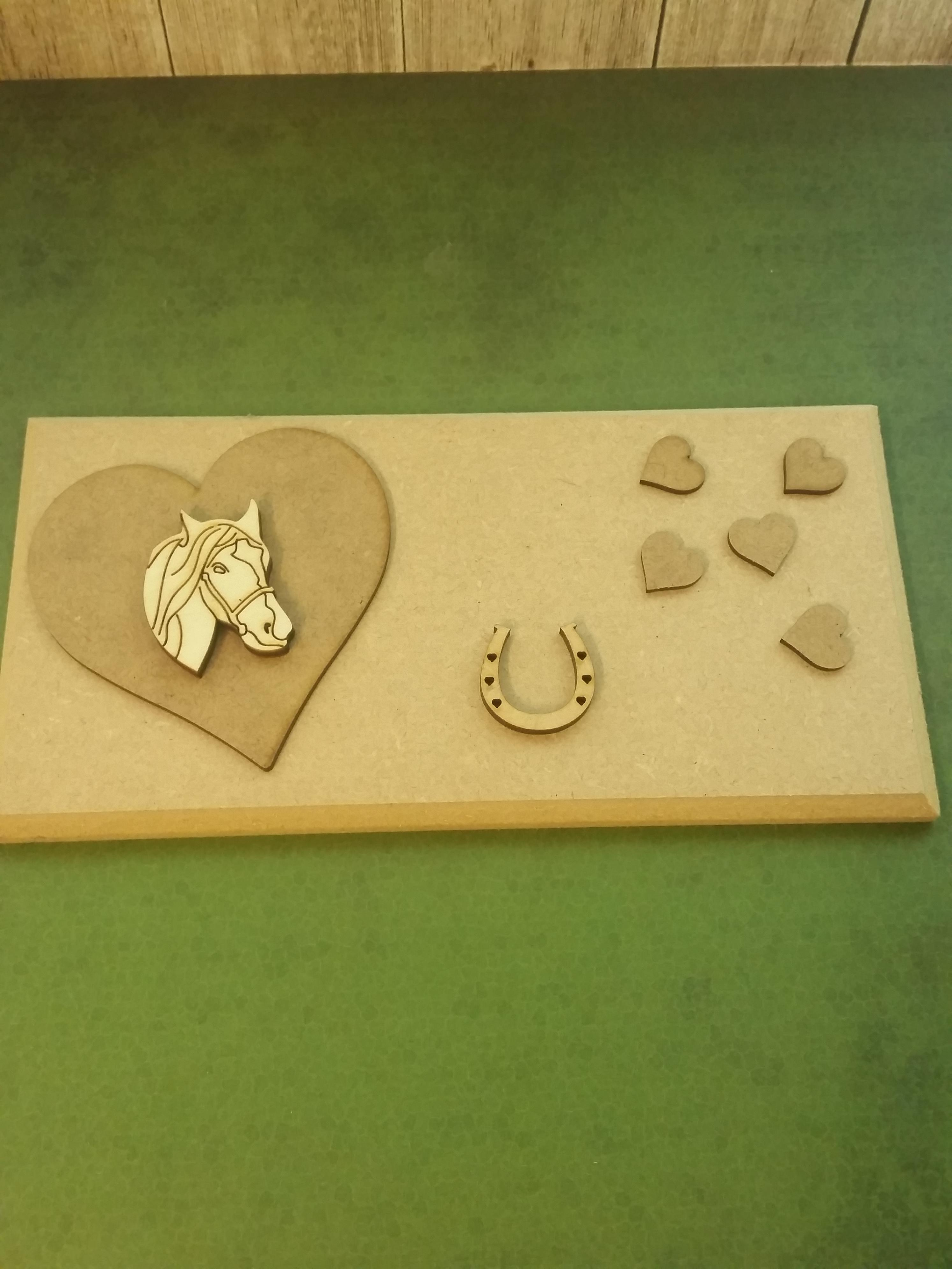 mdf and ply wooden shapes parts to make a sign