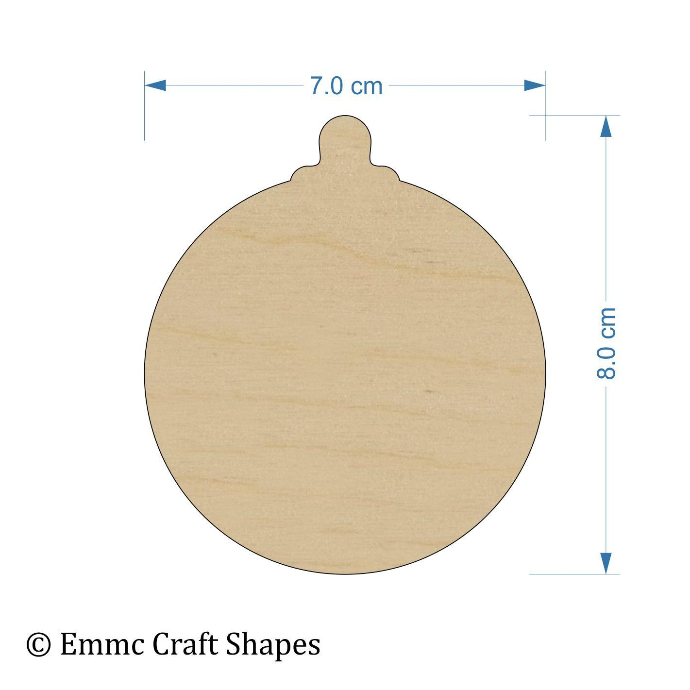 Plywood Bauble - 8 cm Blank