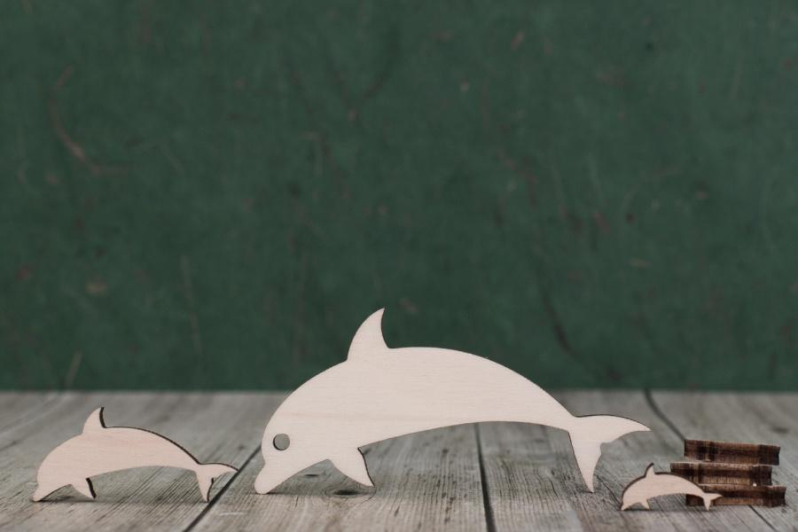 4 mm Plywood Dolphin Shapes