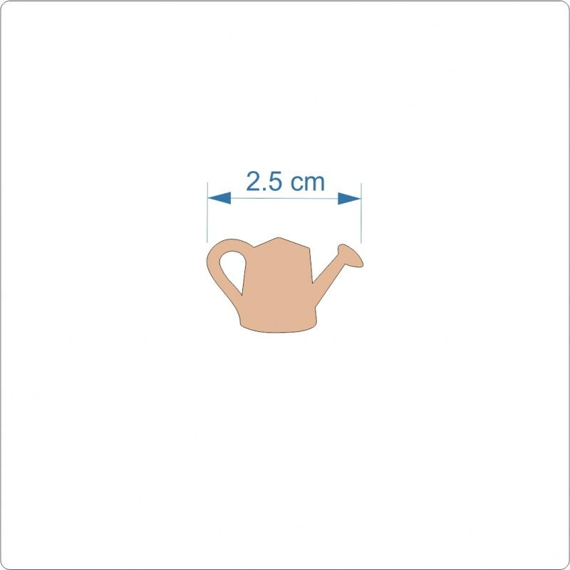 3mm MDF Watering Can Cut Out - 2.5 cm