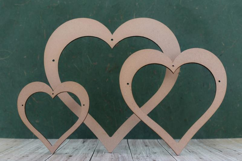 3mm MDF Open Heart Blanks