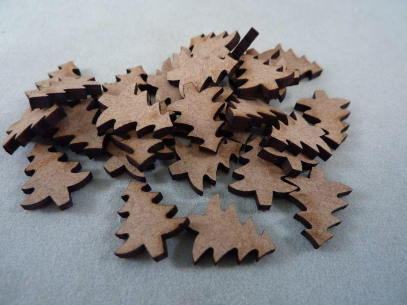 2 mm MDF Christmas Trees - mini 1.5 cm