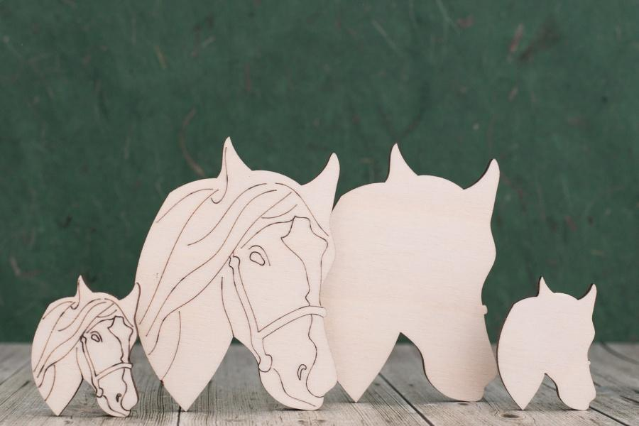 Plywood Horse Head Shapes
