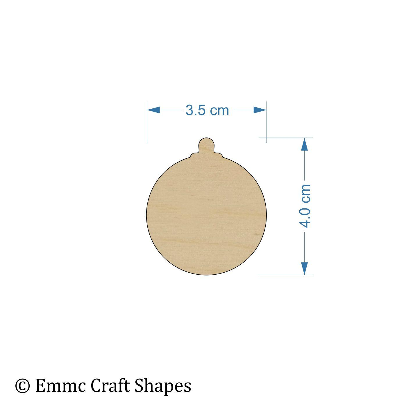 Plywood Bauble - 4 cm Blank