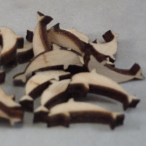 4 mm Plywood Dolphin Shapes - mini
