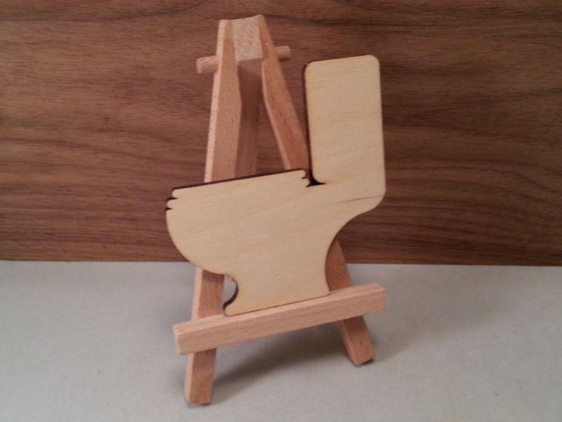 Plywood Toilet Craft Shape - 8 cm