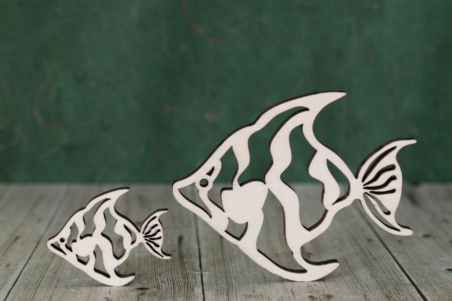 4 mm Plywood Wooden Fish Shape