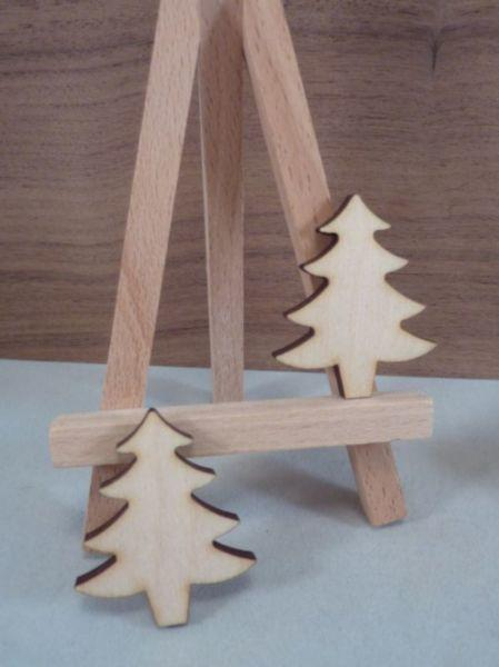 Plywood Christmas Trees - 4 cm without hanging hole