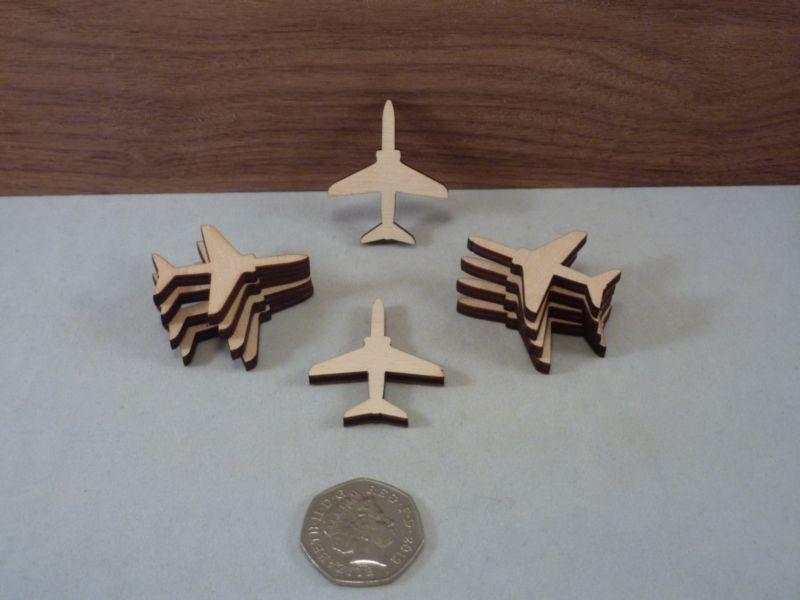 Plywood Jet Plane Craft Blank - 4 cm