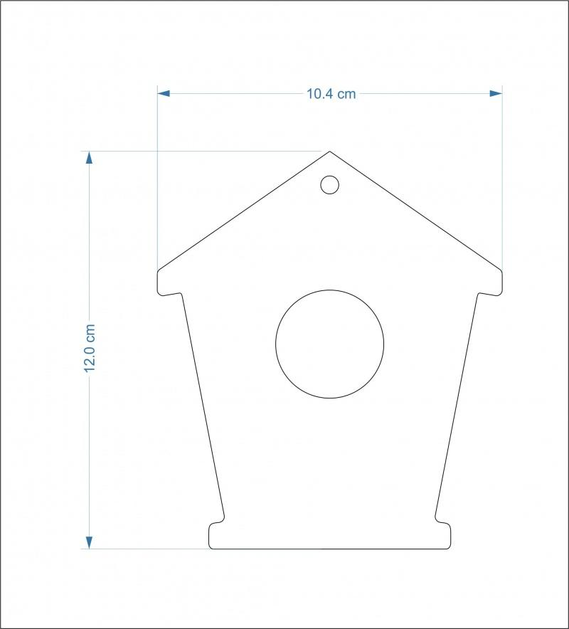 3mm thick mdf bird house fronts - 12 cm Round hole/hanging hole