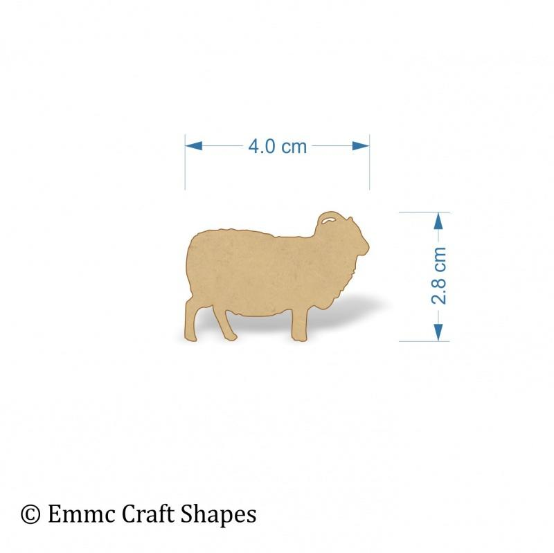 3 mm MDF Sheep Blank - 4 cm