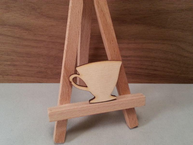 Plywood Tea Cup Shape - 4 cm