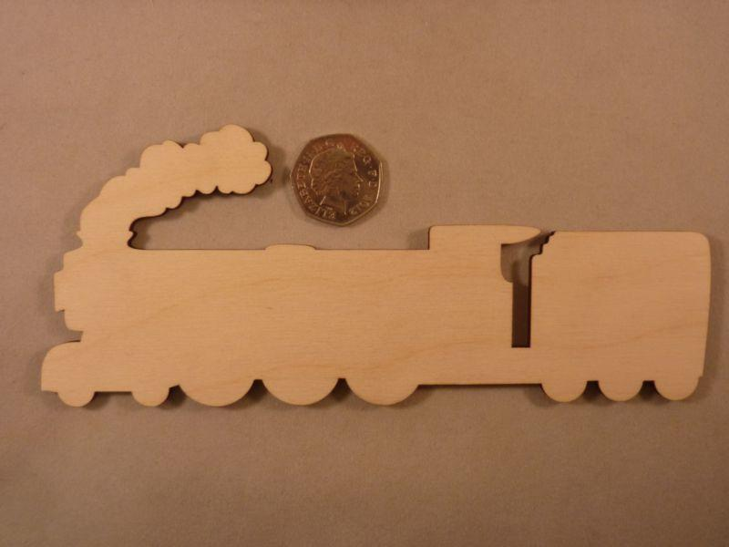 Plywood Steam Train Shape - 20 cm without etching