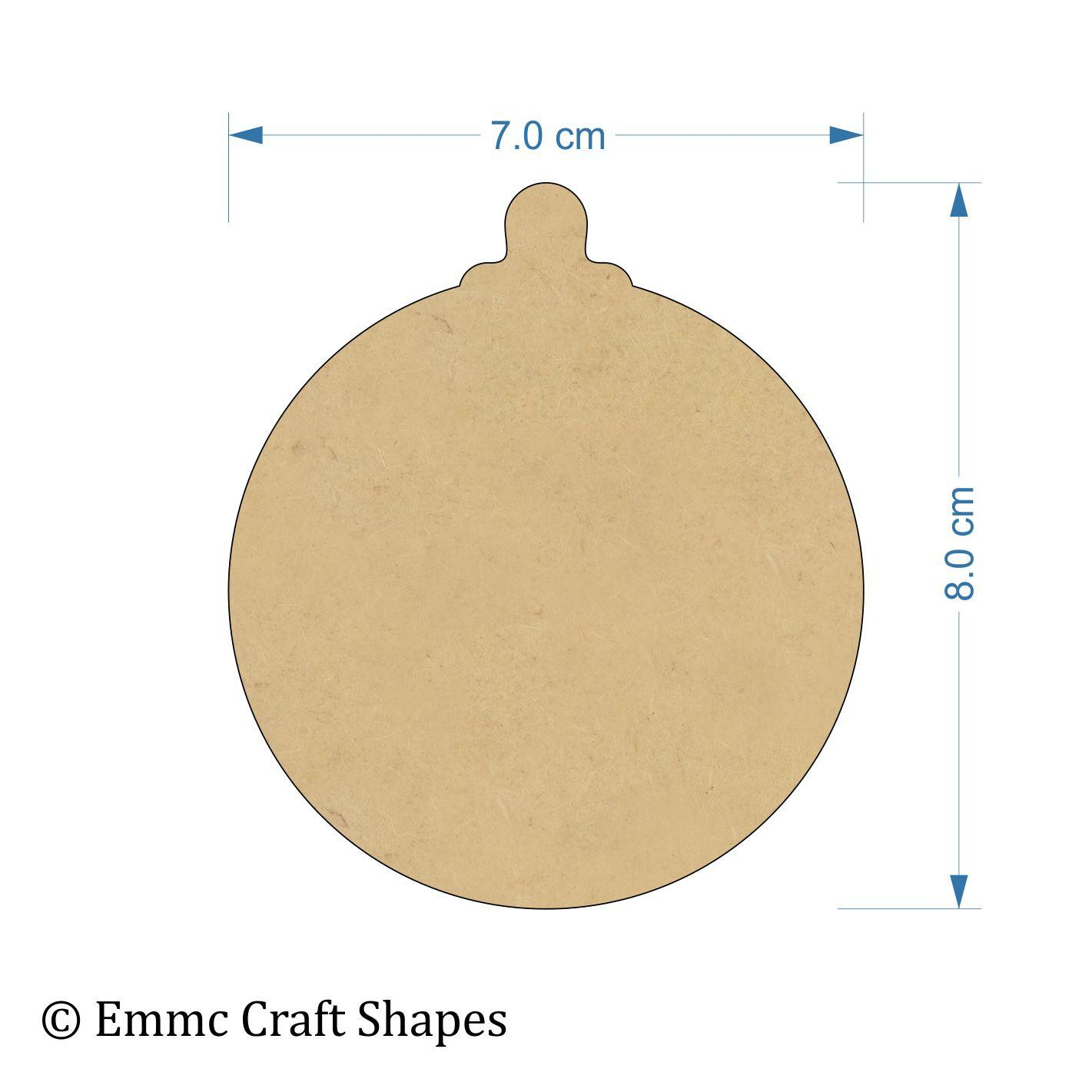 3 mm MDF blank bauble cut outs - 8cm