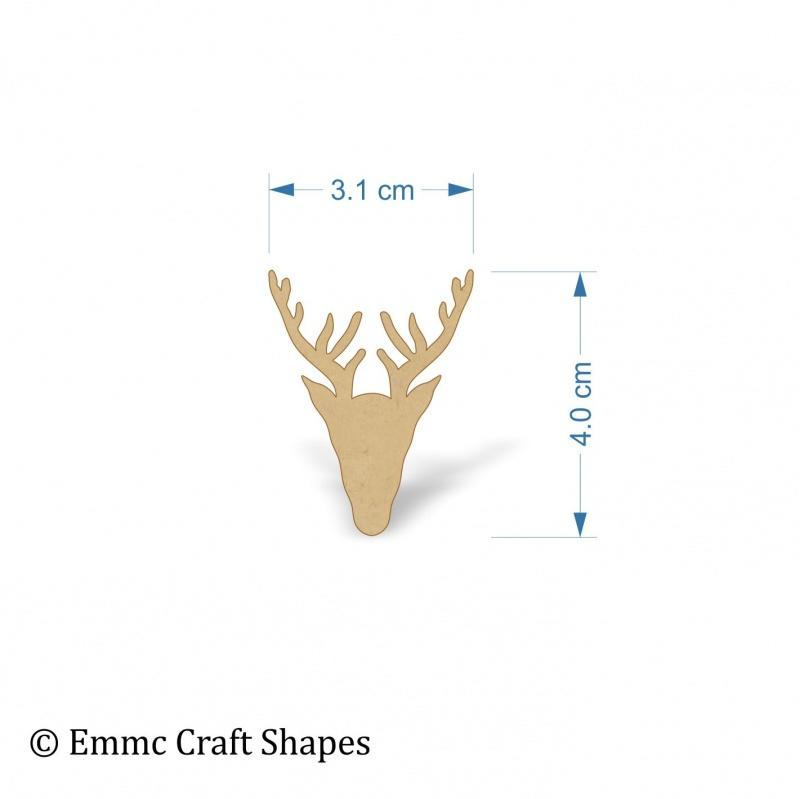 3mm MDF Stag Head - 4 cm