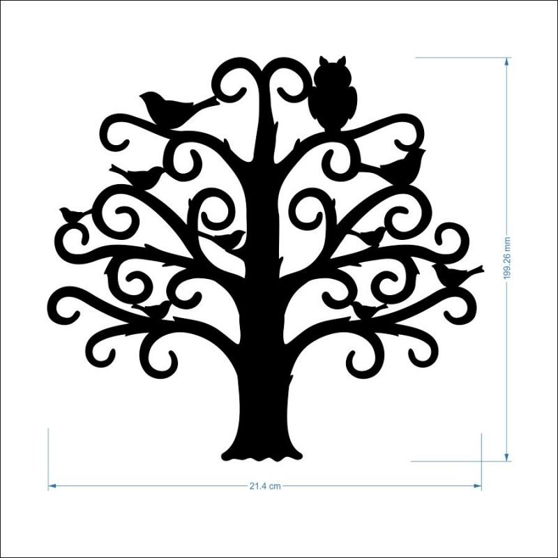 3mm MDF Family Tree - 20 cm