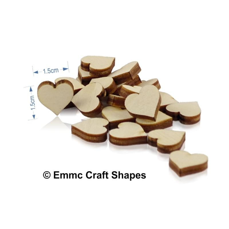 Mini Plywood Hearts