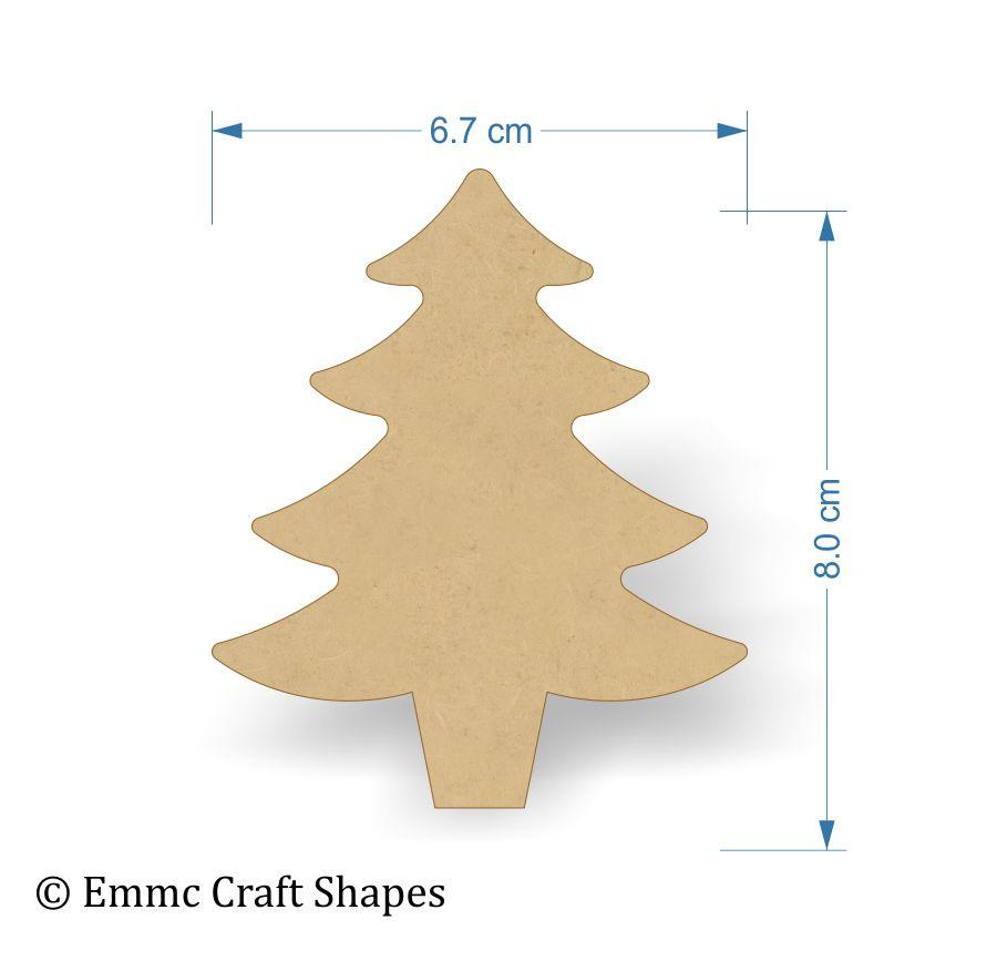 Blank Wooden Christmas Tree Craft