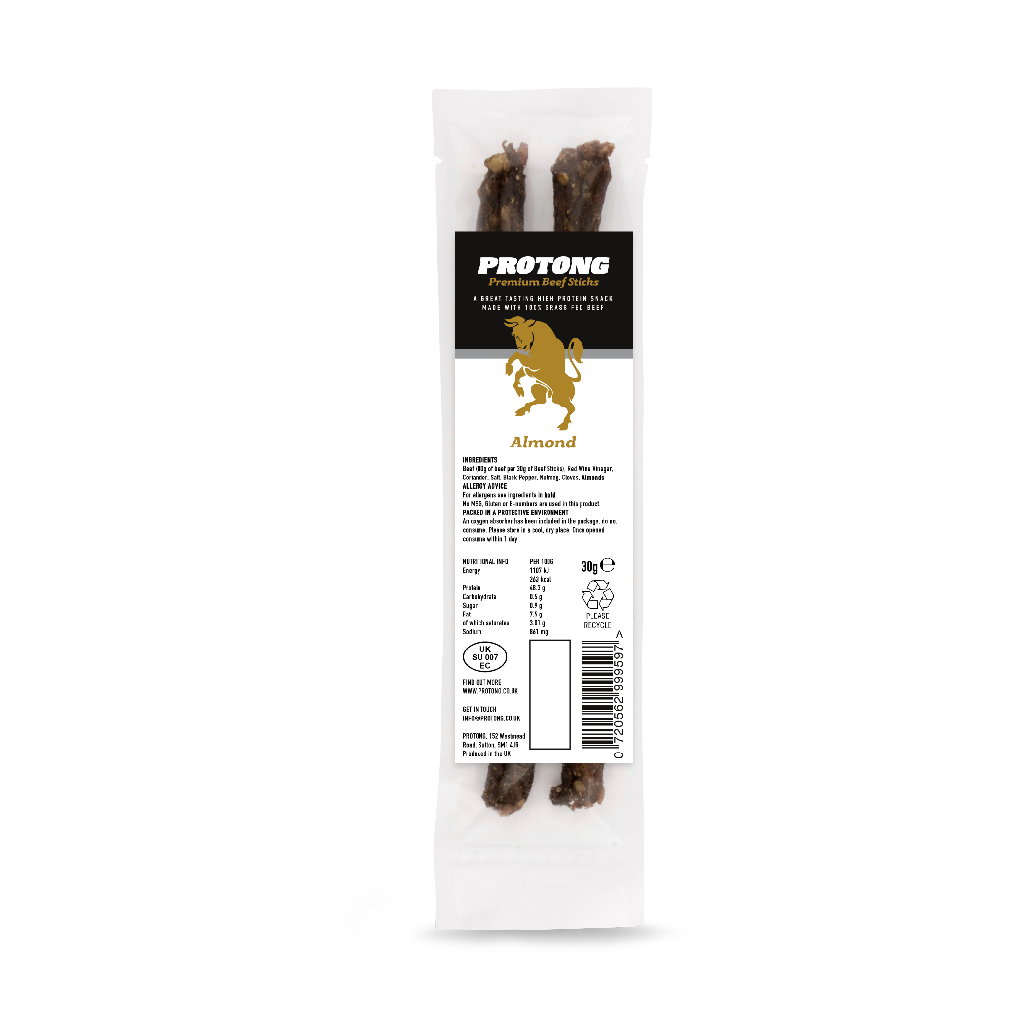 Almond Beef Sticks - 1 pack