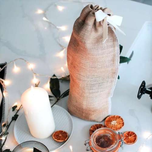 Hessian Bottle Bag