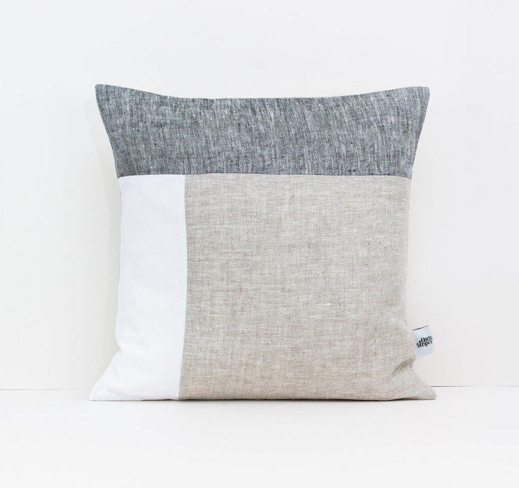Linen & Stripes - Geometric Cushion Cover 1