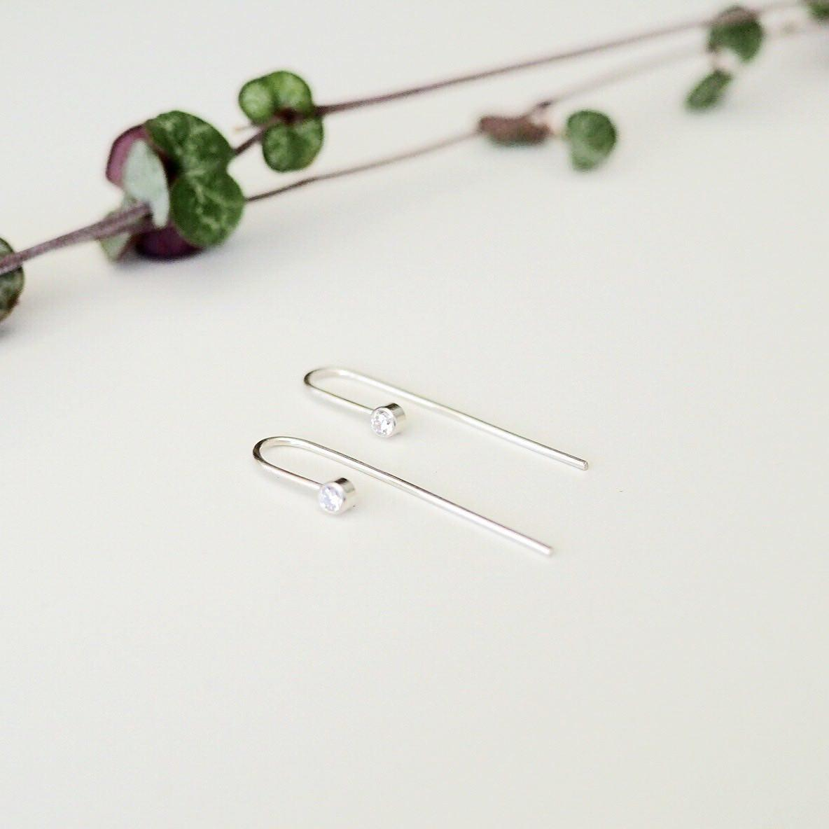 Meteor Drop Earrings - Ethical Cubic Zirconia Gemstone