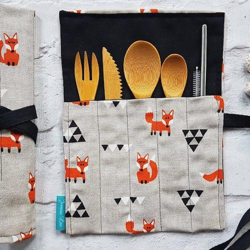 Orange Fox Cutlery Set