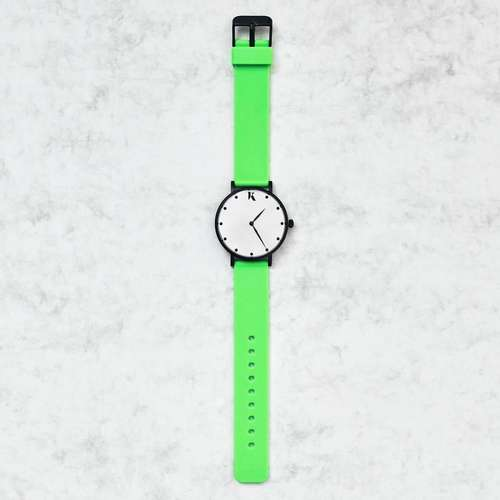 Neon Green Silicone Watch