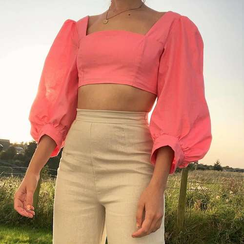 Pink Madeline Top