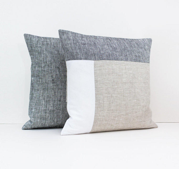 Linen & Stripes - Geometric Cushion Cover 2