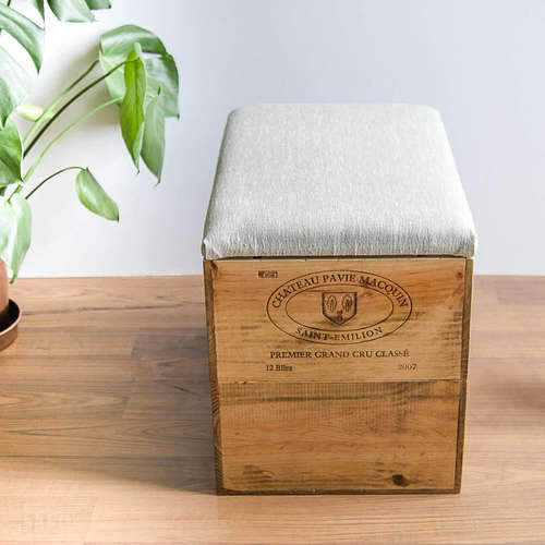 Made Anew - Double Height Wine Crate Ottoman 1