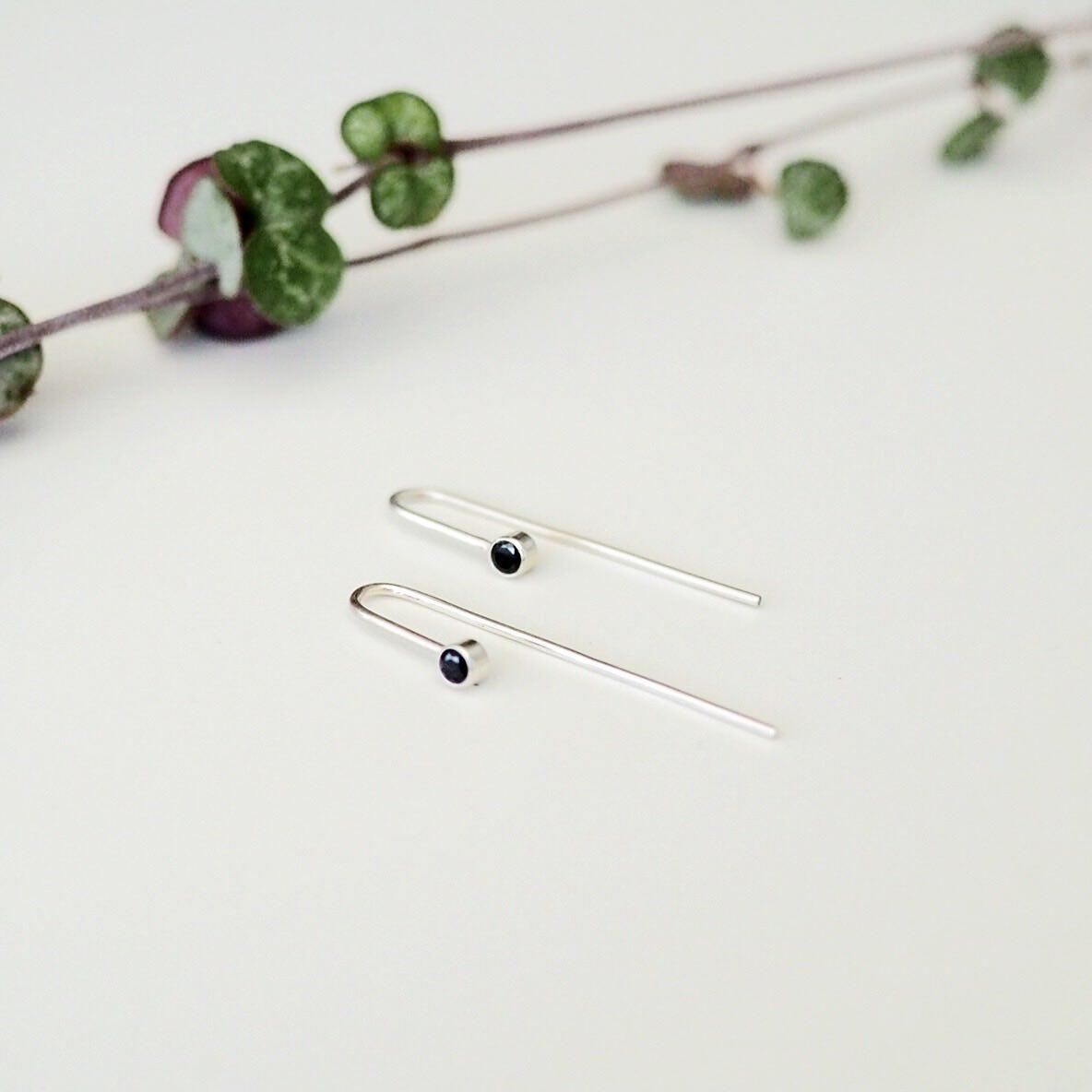 Meteor Drop Earrings - Ethical Black Spinel Gemstone