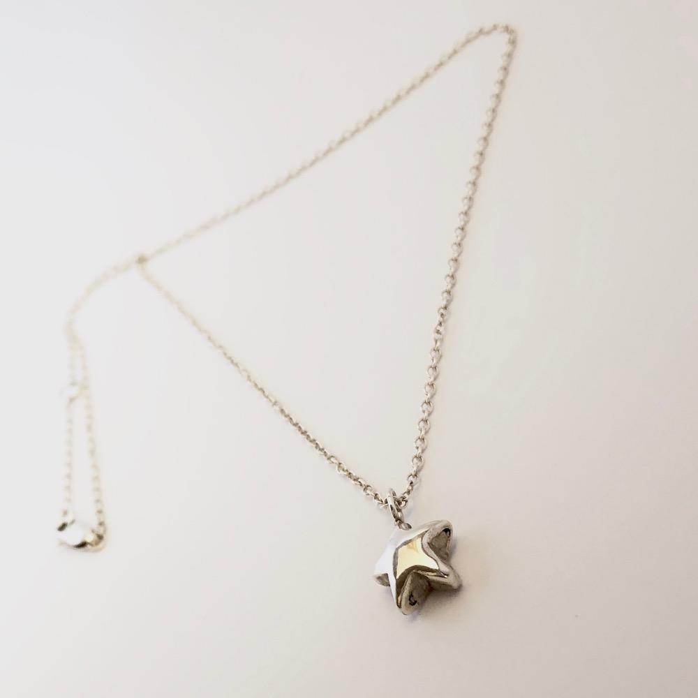 Recycled Star Necklace Side Angle