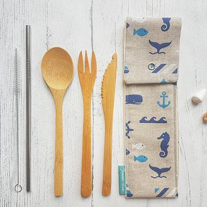 Nautical Cutlery Pouch