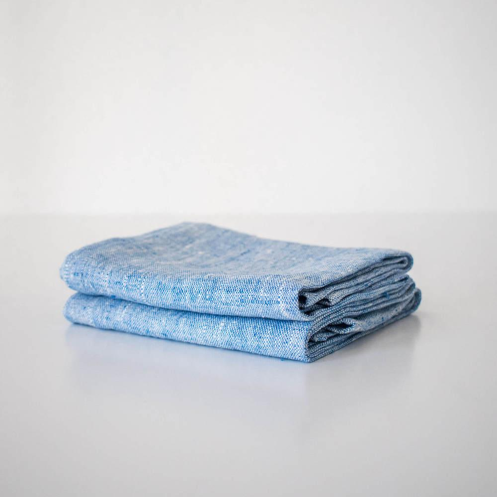 Blue Linen Kitchen Towel