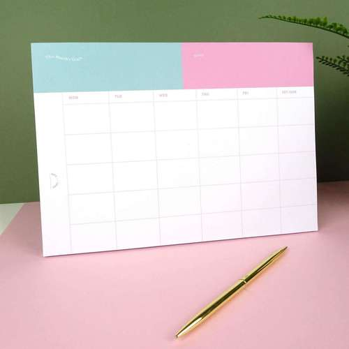 Monthly Goals Note Pad