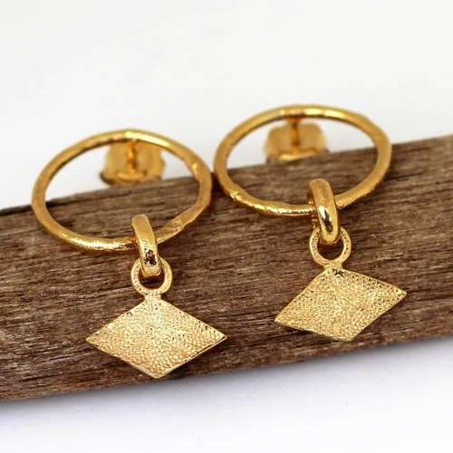 Rhombus Hoops Gold
