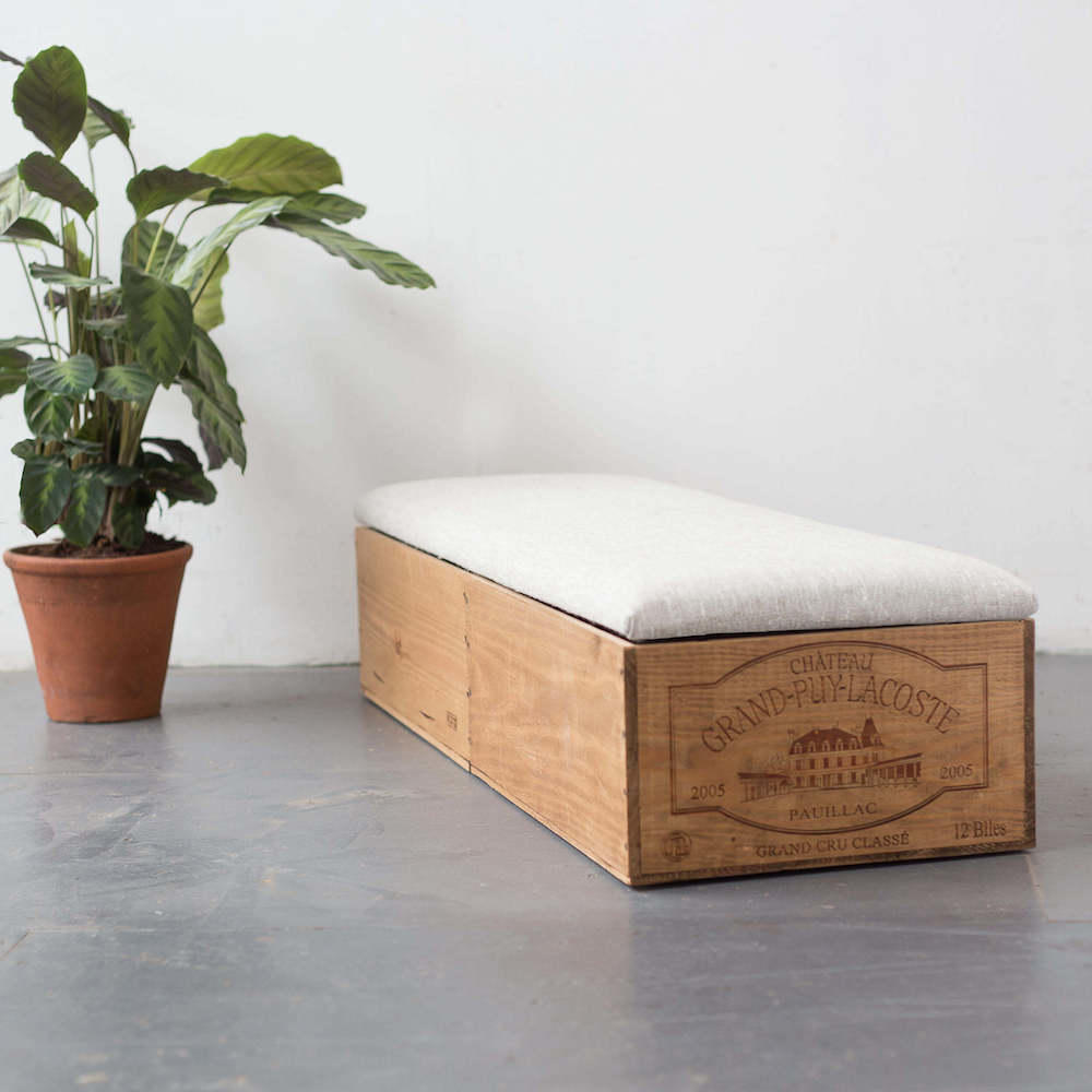 Made Anew - Double Length Wine Crate Ottoman 2