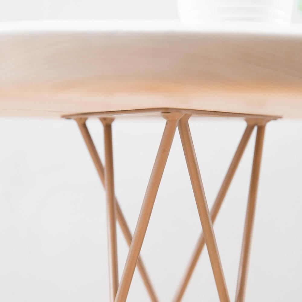 Made Anew - Hairpin Leg Round Side Table 7