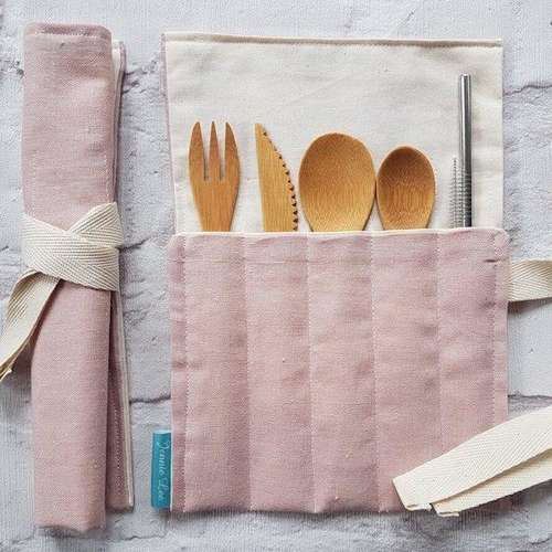 Plain Pink Cutlery Set