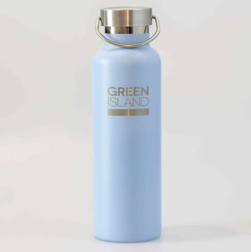 600ml Blue Stainless Steel Water Bottle