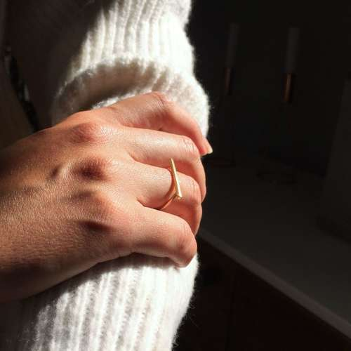 Recycled Gold Bar Ring
