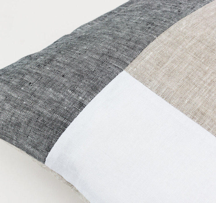 Linen & Stripes - Geometric Cushion Cover 4